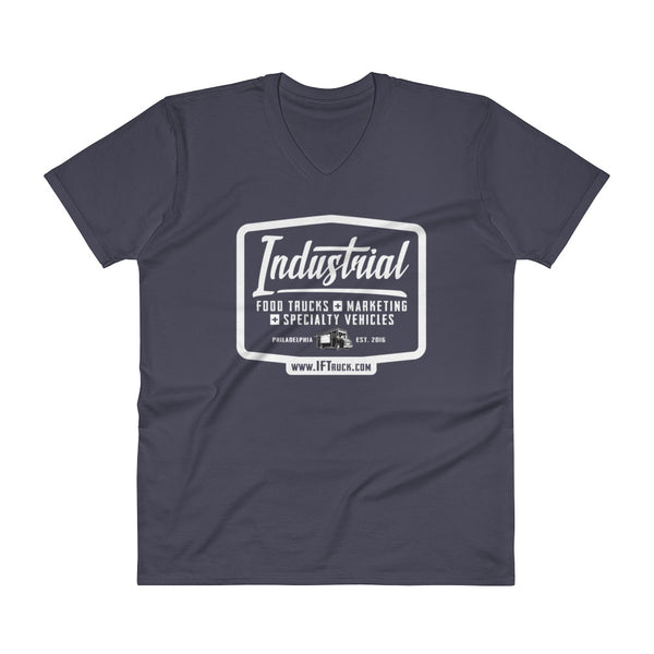 "Industrial Food Truck™ ""Badge"" V-Neck T-Shirt"
