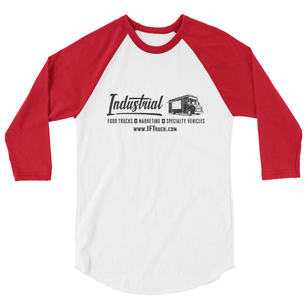 "Industrial Food Truck™ ""Panel w/ Rear Badge"" 3/4 sleeve raglan shirt"
