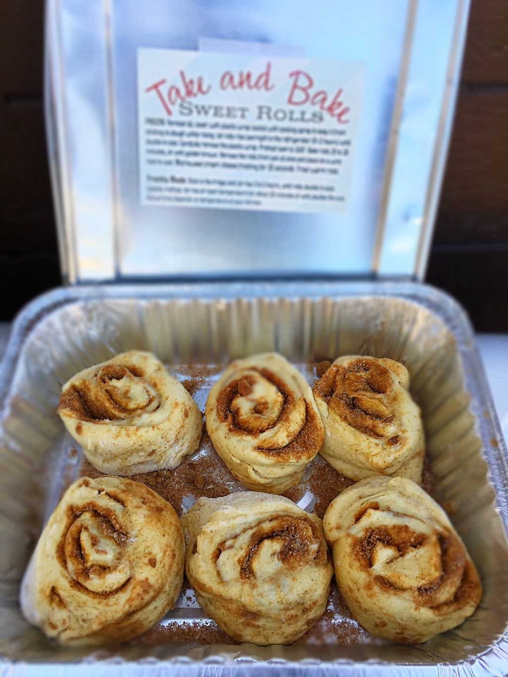 Sweet Rolls (FROZEN Take & Bake) available until April 20th