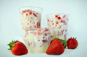 Cups of Strawberries n' Cream