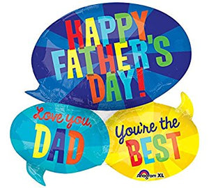 "Happy Father's Day super shape foil balloon 26"" x 26"""