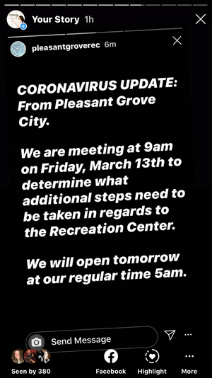 Event canceled 😭 As coronavirus spreads, Utah governor restricts gatherings of more than 100 people!