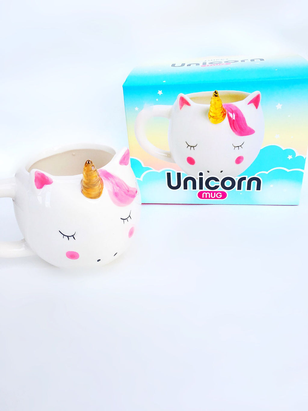 Pink Unicorn Ceramic 16oz Mug