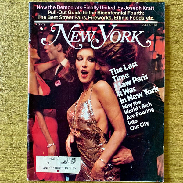 New York Magazine: The Last Time I Saw Paris it was in New York, July 5, 1976 - Books Above the Bend