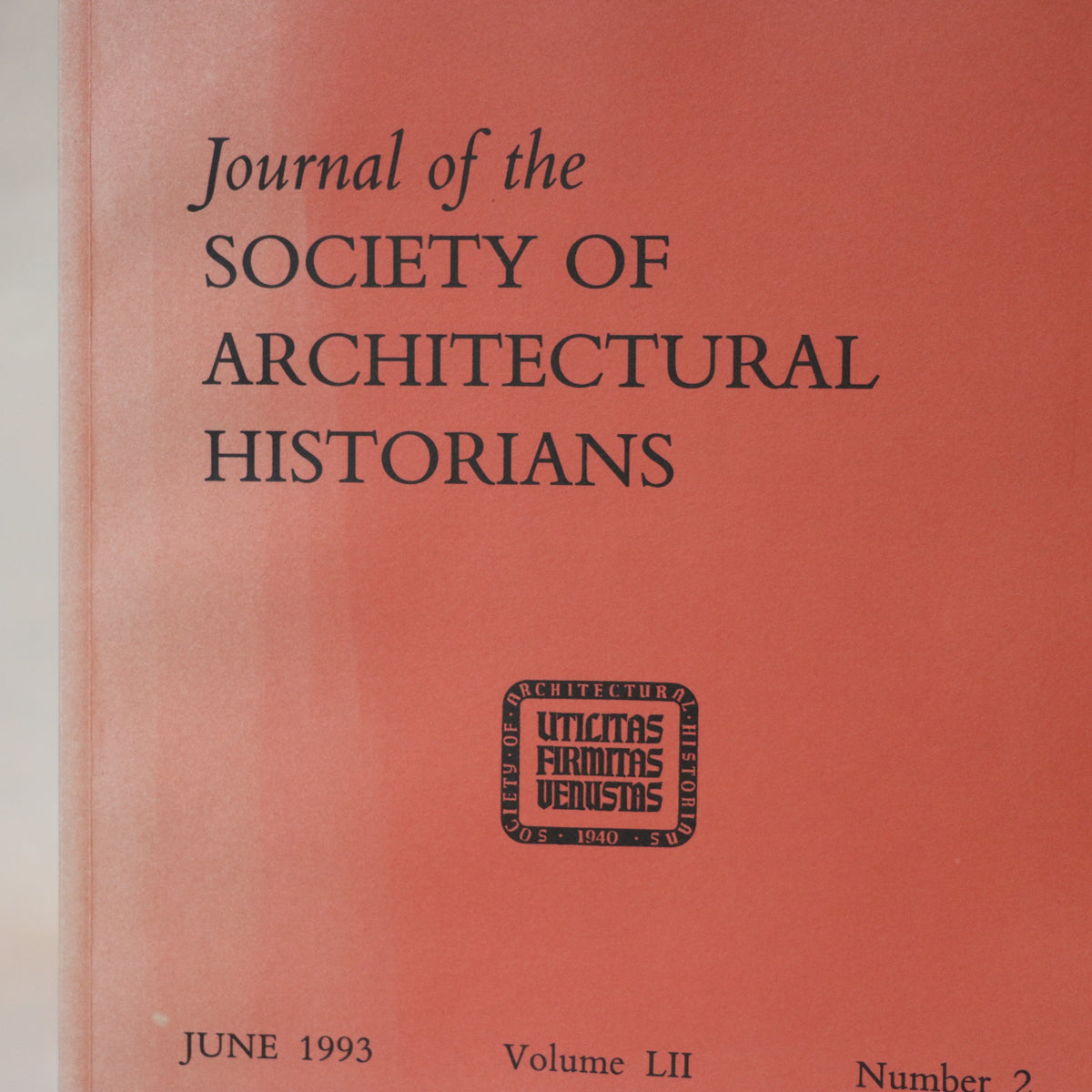 journal of the society of architectural historians june 1993 volume lii number 2