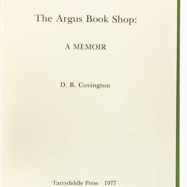The Argus Bookshop: A Memoir - Books Above the Bend