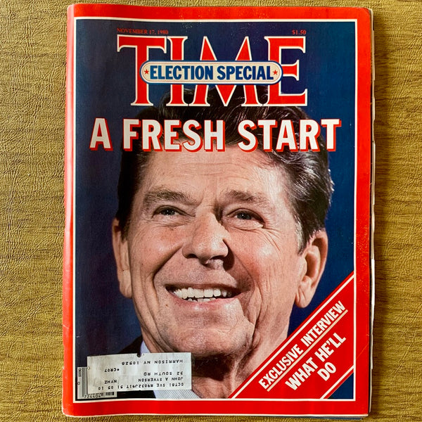Time Magazine: A Fresh Start [Election Special], November 17, 1980 - Books Above the Bend