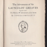 The Adventures of Sir Launcelot Greaves: Together with The History & Adventures of an Atom - Books Above the Bend