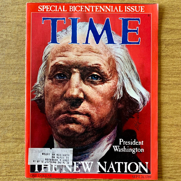 Time Magazine: President Washington, The New Nation, September 26, 1976 - Books Above the Bend