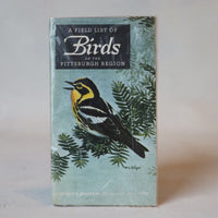 A Field History of Birds of the Pittsburgh Region - Books Above the Bend
