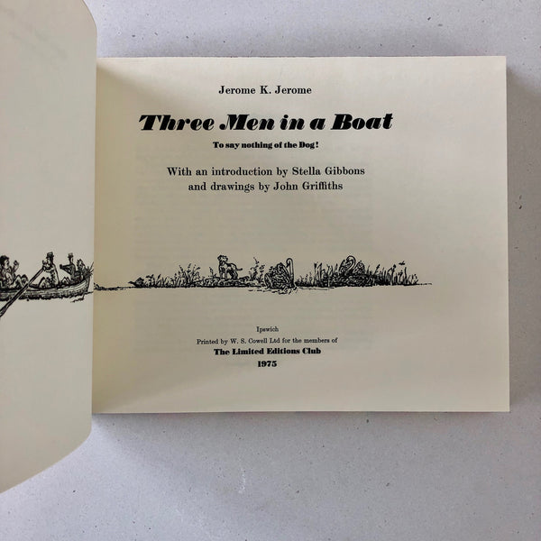 Three Men in a Boat - Books Above the Bend