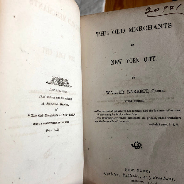The Old Merchants of New York City - Books Above the Bend