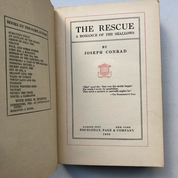 The Rescue Books Above The Bend