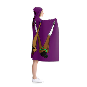 Legs up the wall Hooded Blanket