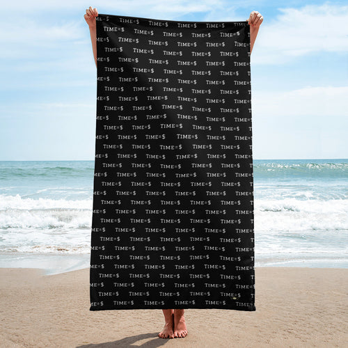 Time = $ Beach Towel