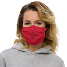 words into paper Premium face mask