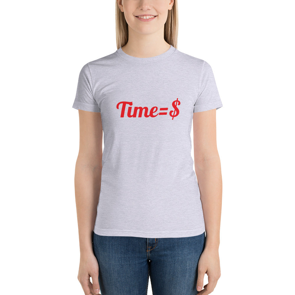 Time=$ Short sleeve women's t-shirt