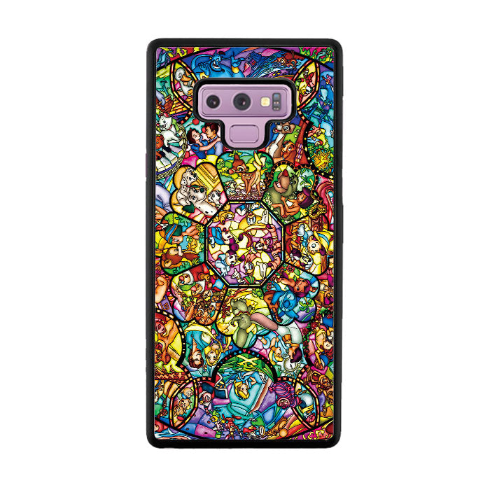 uk availability 5d15e cb549 Disney All Characters Stained Glasses Samsung Galaxy Note 9 Case |  Casecortez