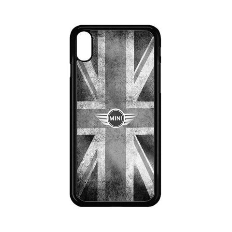 f877e2e6 Black White Vintage London Flag Mini Cooper Logo iPhone X Case | Casecortez