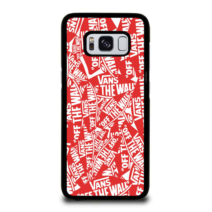 69e78429f56b0a Red White Vans Logo Pattern Samsung Galaxy S8 Case