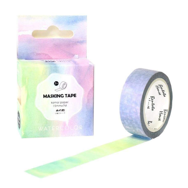 "Washi tape ""Aquarelle"" - MyCuteCactus"