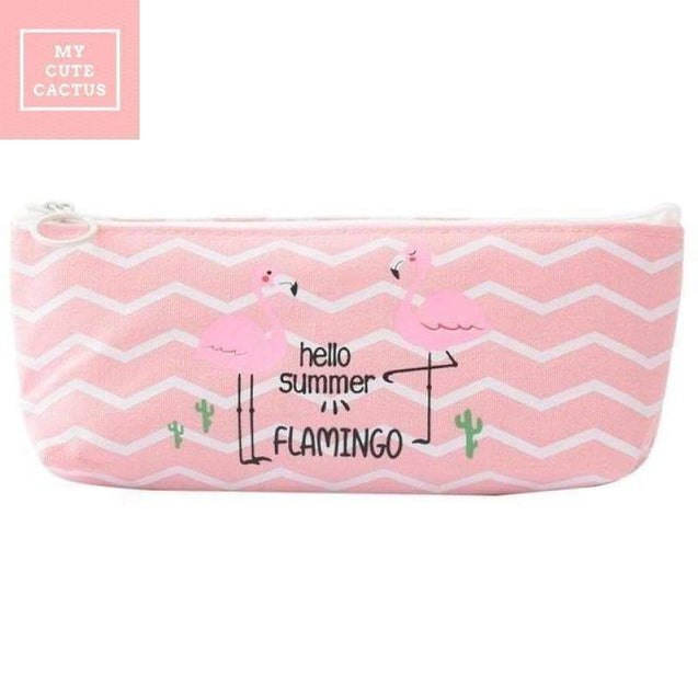 "Trousse ""Flamant Rose"" - MyCuteCactus"