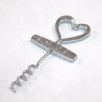 Top Selling Love Silver Color Wine Corkscrew Cork Bottle Opener Wedding Party Supplies