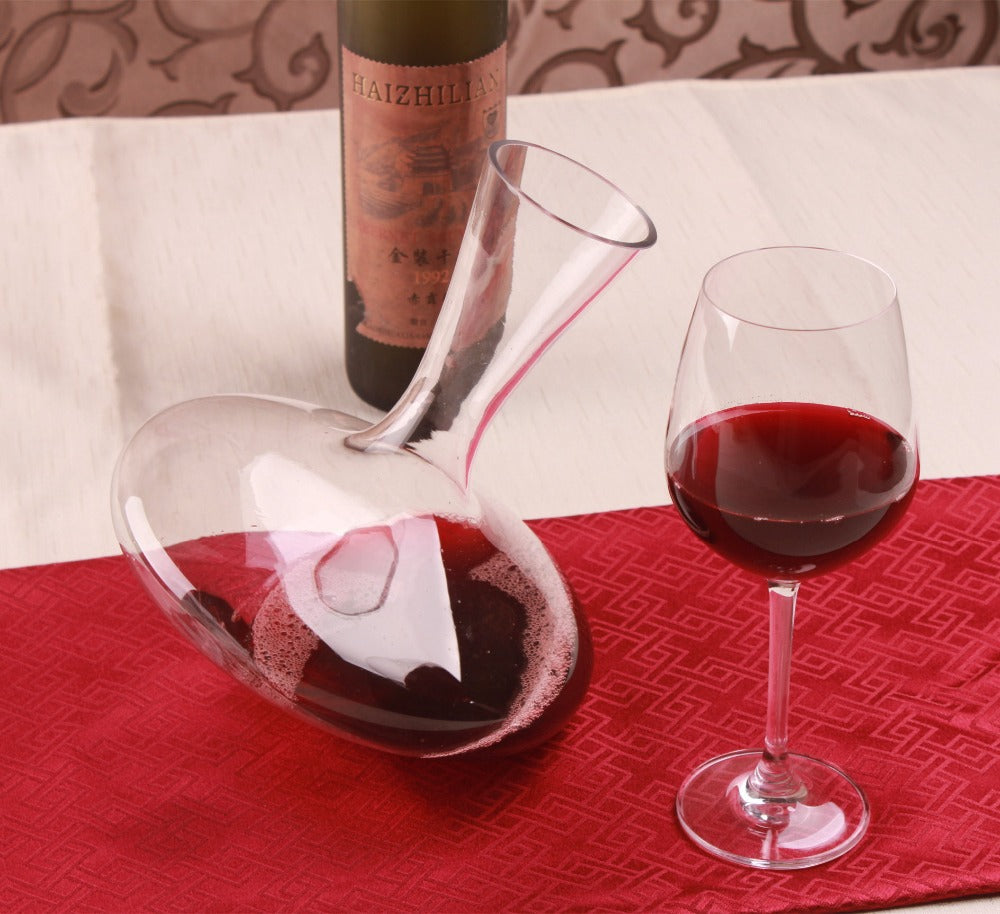 1PC 1200ml Glass Wine Decanters Bevel Spout Wine Aerator Container