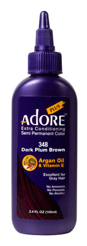 Adore Plus 348 Dark Plum Brown