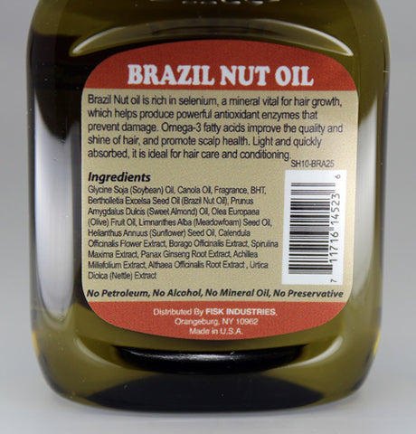 Premium Natural Hair Oil Brazil Nut 2.5 fl oz/75ml