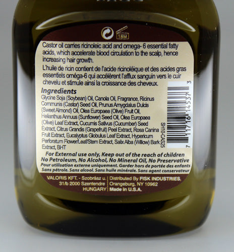 Premium Natural Hair Oil Castor 2.5 fl oz/75ml