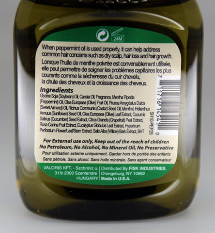Premium Natural Hair Oil Peppermint 2.5 fl oz/75ml