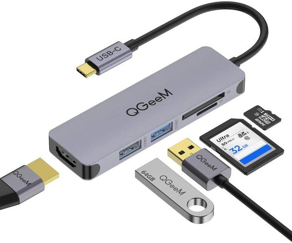 5 in 1 USB C - HDMI Adapter 4k Multiport