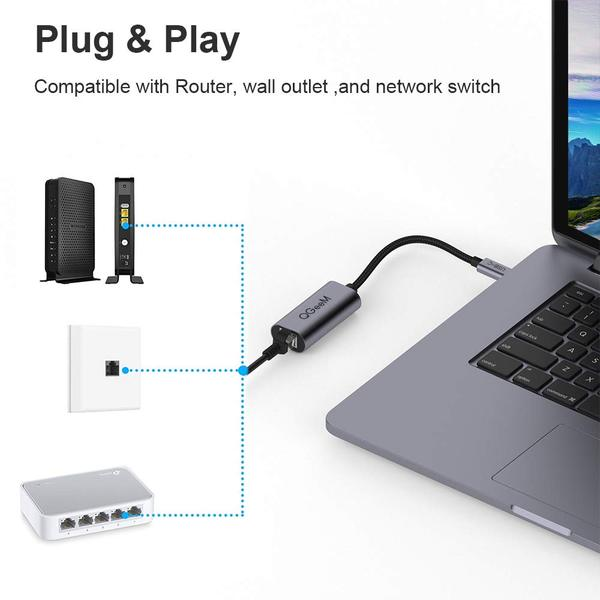 QGeeM USB-C to Ethernet Adapter