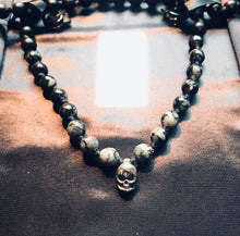 Diamond Sutra Silver Skull Mala Necklace