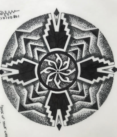 Stone Nation Mandala Original Artwork