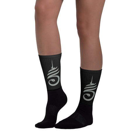 The Sacred Serpent Unalome Logo Socks