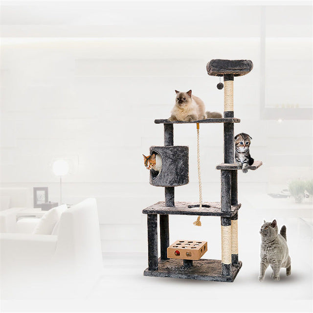 Wooden Pets Cat Climbing Frames Toys Interactive Gatos Shelves Pet ...