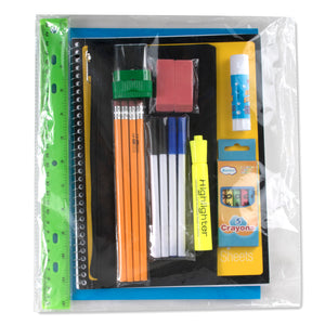 Preassembled 17 Inch Backpack & 12 Piece School Supply Kit - 12 Kits Per Case - Free Shipping