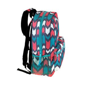 Wholesale 17 Inch Printed & Padded Backpack - Assorted - 24 Bags Per Case - Free Shipping