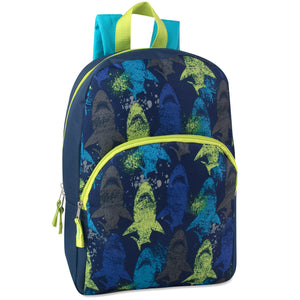 Wholesale 15 Inch Boys Printed Backpack - 24 Bags Per Case - Free Shipping