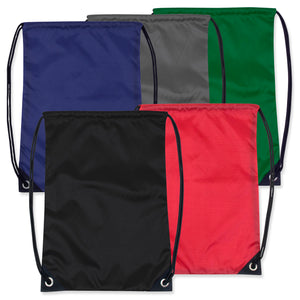 Wholesale Kids 15 Inch Drawstring Backpack Bag - 5 Colors - 48 Bags Per Case - Free Shipping