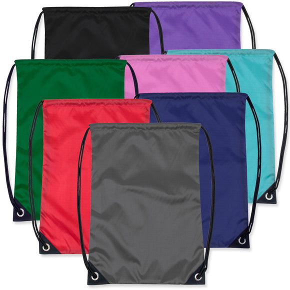 Wholesale Kids 15 Inch Drawstring Backpack Bag - 8 Colors - 48 Bags Per Case - Free Shipping