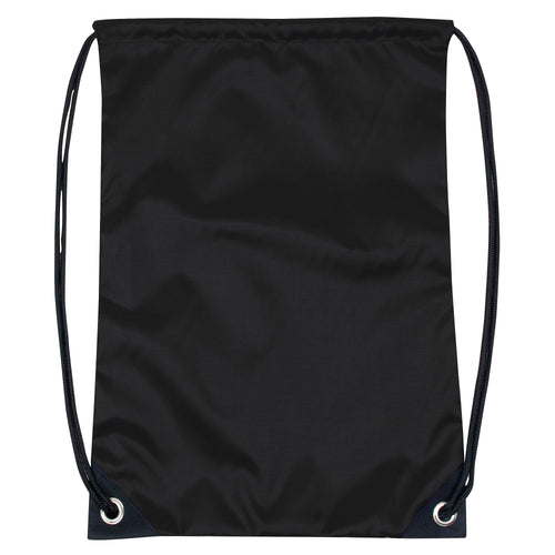 Wholesale Kids 15 Inch Drawstring Backpack Bag - Black - 48 Bags Per Case - Free Shipping