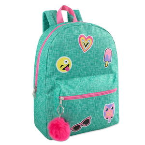 Wholesale 16.5 Inches Girls Backpack - 24 Bags Per Case - Free Shipping