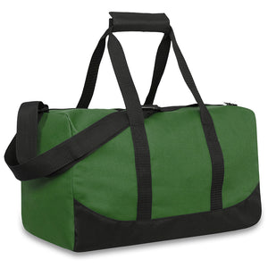 Wholesale 17 Inch Duffel Duffle Bag - Green - 24 Bags Per Case - Free Shipping