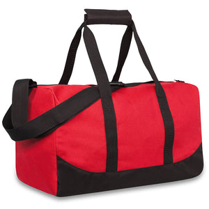Wholesale 17 Inch Duffel Duffle Bag - Red - 24 Bags Per Case - Free Shipping