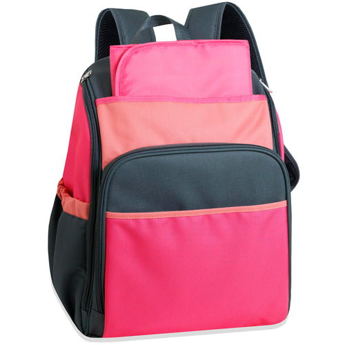 Wholesale 17 Inch Pink Color Block Diaper Backpack - 24 Bags Per Case - Free Shipping