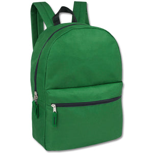 Wholesale 17 Inch Solid Backpack - 5 Colors - 24 Bags Per Case - Free Shipping