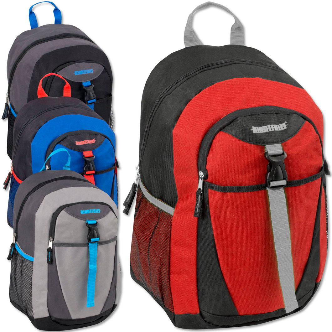 Wholesale 18 Inch Clip Pocket Backpack With Padding - 24 Bags Per Case - Free Shipping